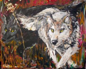 """""""Alpha's Shadow"""" Acrylic on Canvas, 2012, *SOLD*"""