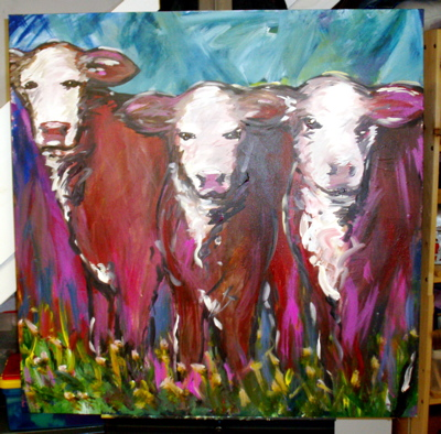 Three Little Cows, by Kathryn Armstrong, 2009