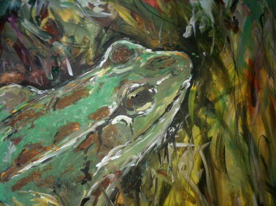 Party at the Frog Pond, Acrylic on Canvas, 2011, SOLD