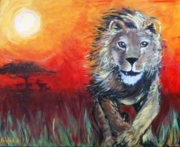 Just Run! Acrylic on canvas; August 2011