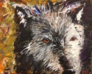 Old Man Wolf, 2012, Acrylic on canvas board, $300
