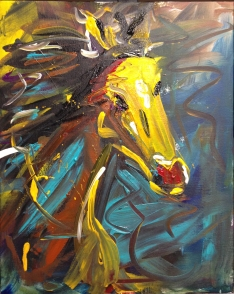"""Run Wild,"" Acrylic on canvas board, 16"" x 20"", 2012, $320"