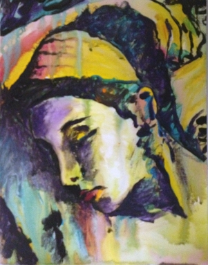 Daphne dreaming, art, painting,