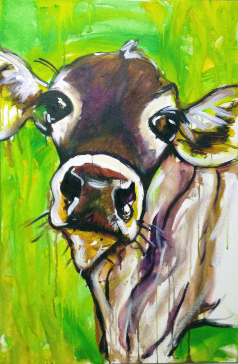 You Moooove Me cow painting