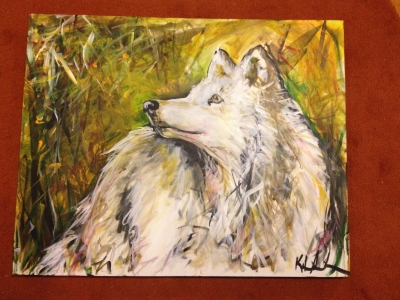 arctic wolf painting