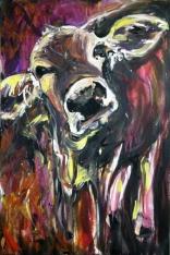 """""""Moo Doo,"""" Acrylic on Canvas, 24 x 36, 2012, $850"""