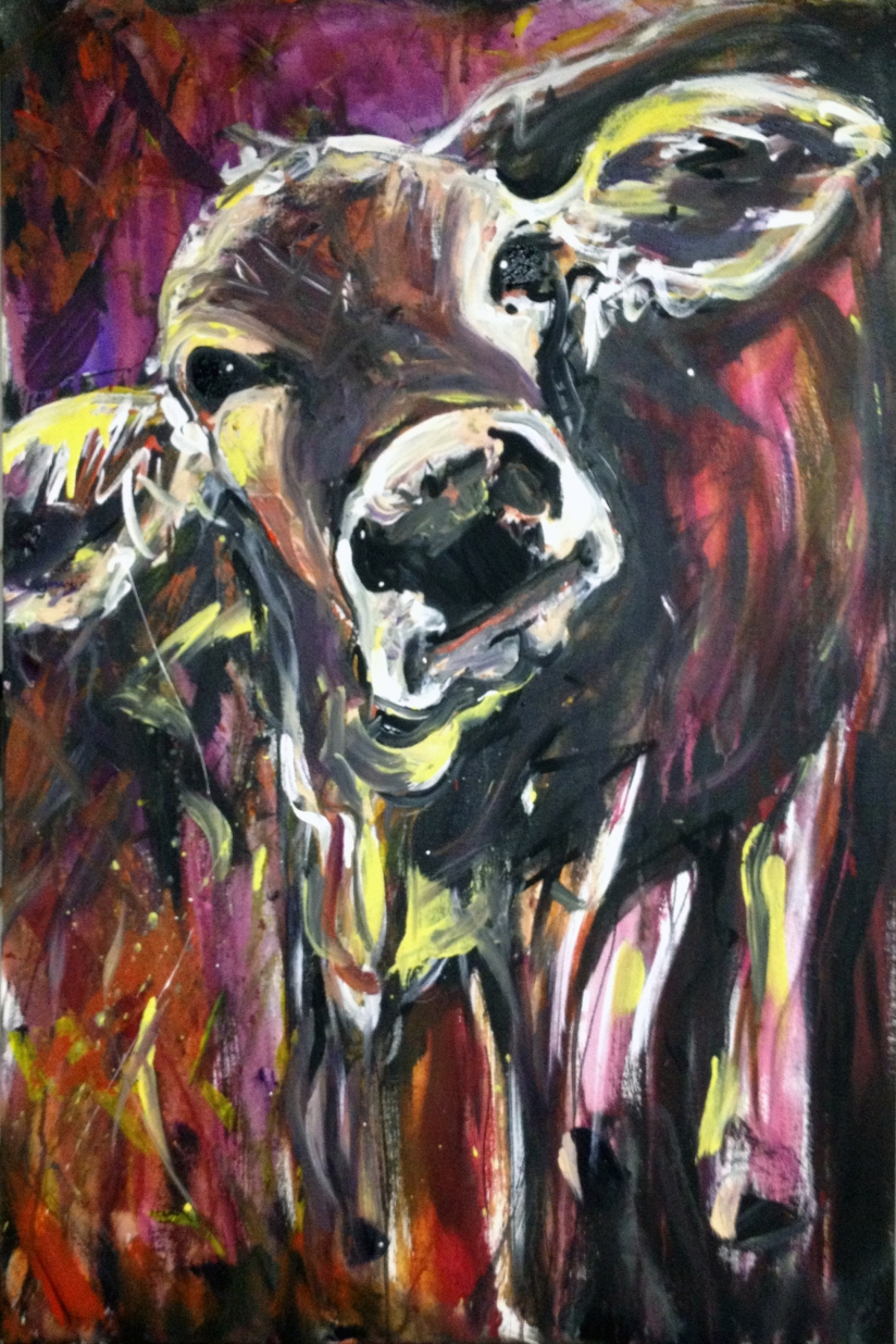 Just Another Cow Painting