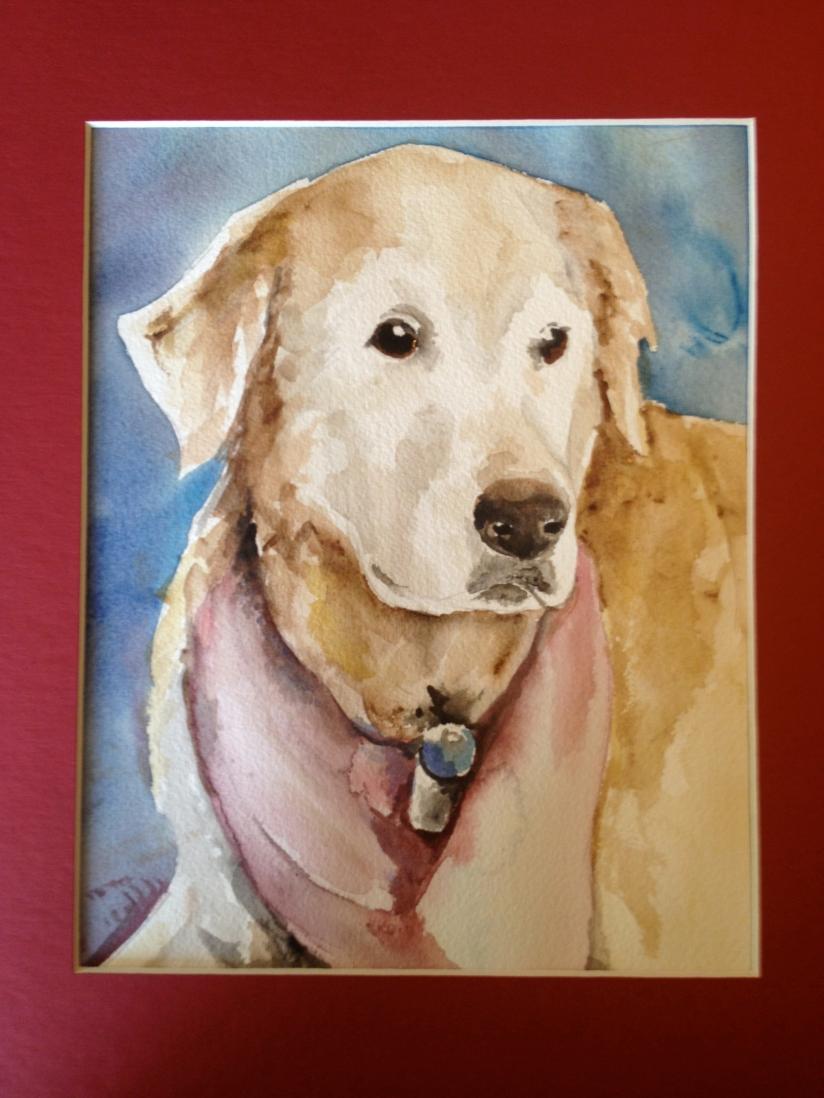 Another Memorial Portrait of a Golden Retriever