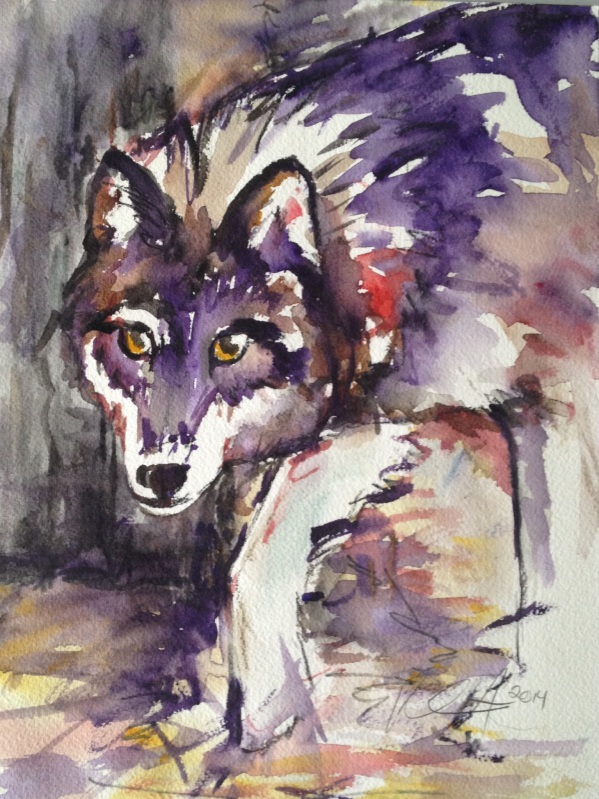"""Shadow Dancer"" Watercolor on paper, 9"" x 11"" 2014"