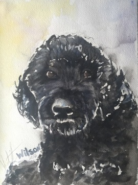 """Wilson"" Watercolor on paper, 9"" x 12"", SOLD"