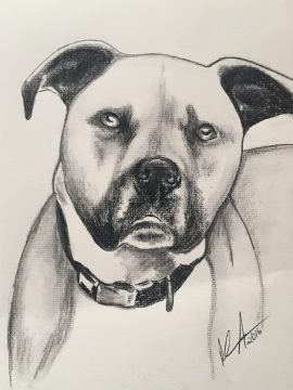 """Cassy"" Charcoal on paper, 9"" x 12"", SOLD"