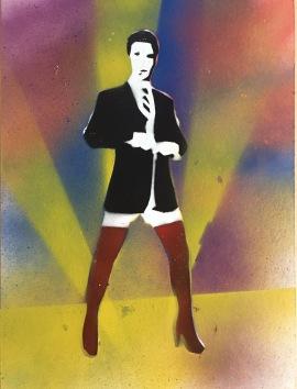 Get Kinky 7; spray paint on paper, 9 x 12, $20