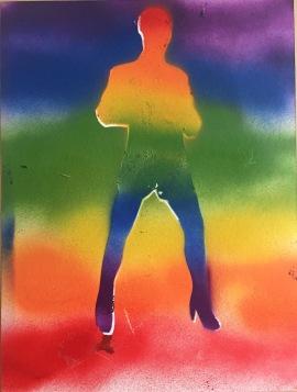 Get Kinky 4; spray painton paper, 9 x 12, $20